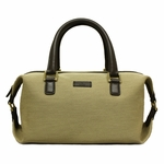 Gucci Beige and Brown Leather Boston Satchel Bag 272375