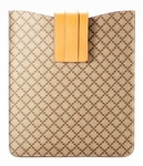 Gucci Beige Imprime Leather iPad Case 256575