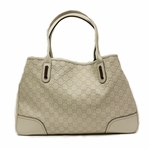 Gucci Beige Leather Guccissima GG Logo Open Tote Bag 293589