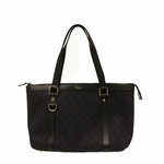 Gucci Black Denim Abbey D Ring Zip Tote Bag 268640