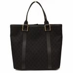 Gucci Black Denim and Leather Large Tote Bag 339547
