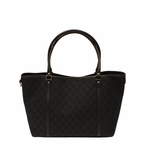 Gucci Black Denim Medium Snap Closure Tote Bag 265695