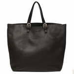 Gucci Black Large Leather Unisex Travel Tote Bag 293020