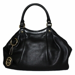 Gucci Black Leather Medium Sukey Satchel Handbag 211944