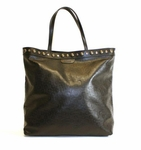 Gucci Black Leather Horsebit Studded Babouska Tote Bag 286304