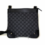 Gucci Black Canvas and Leather GG Logo Crossbody Bag 272396