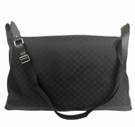 Gucci Black Nylon Guccissima XL Luggage Weekend Travel Tote Bag 105669