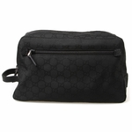 Gucci Black Nylon Toiletry Bag 112253