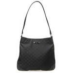 Gucci Black Nylon Leather Capri Hobo Bag