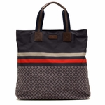Gucci Blue Unisex Diamante Tote Travel BAG 268112