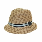 Gucci Blue Web Fedora Hat 200036