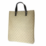Gucci Brown and Gold Metallic Tote 272347