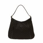 Gucci Brown Canvas and Leather Abbey Hobo Bag 282534