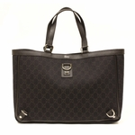Gucci Brown Denim Abbey D Ring Large Tote Bag 293580