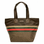 Gucci Brown Nylon Small Diamante Tote Bag 267922
