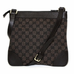 Gucci Brown GG Logo Crossbody Messenger Bag 272396
