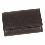 Gucci Brown Guccissima Key Case 260989