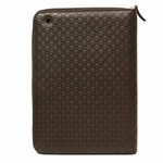 Gucci Brown Guccissima Leather iPad Case Zip Around 322211