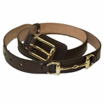 Gucci Brown Horsebit Leather Belt for Men