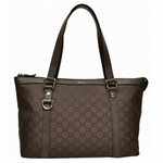 Gucci Brown Jacquard Abbey Tote 268640
