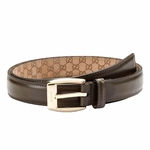 Gucci Brown Leather Belt for Men