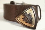 Gucci Brown Leather Emblem Belt 201764