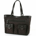 Gucci Brown Nylon Abbey Tote 268639