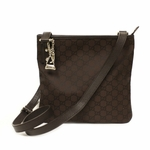 Gucci Brown Nylon Charms Messenger Crossbody Bag 268260