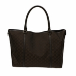 GUCCI Brown Nylon GG Logo Large Shoulder Tote Bag 265696