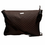 Gucci Brown Nylon Messenger Laptop Case