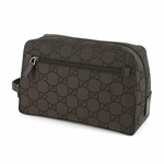 Gucci Brown Nylon Toiletry Bag 112253