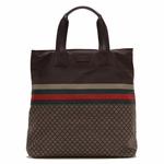 Gucci Brown Nylon Unisex Diamante Tote Travel Bag 268112