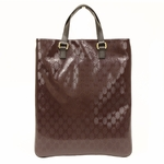 Gucci Burgundy Imprime Leather Portfolio Tote Bag 272347