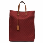 Gucci Burgundy Red Nylon and Leather Travel Tote Beach Bag 355730