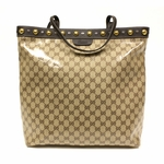 Gucci Brown Leather Crystal Babouska Studded Tote Bag 336668