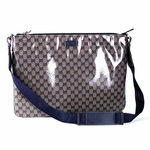 Gucci Crystal Cross Body Messenger Blue