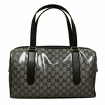 Gucci Crystal 'Joy' Black and Silver Boston Bag 257288