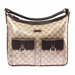 Gucci Crystal Large 2 Pocket Crystal Canvas Shoulder Bag 293581