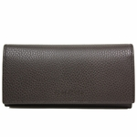 Gucci Dark Brown Leather Continental Flap Wallet 305282
