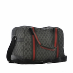 Gucci Diamante Black Web Duffle Carry-on Travel Overnight Bag 374769