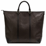 Gucci Diamante Leather Large Zip Top Unisex Tote Bag 308896, Brown