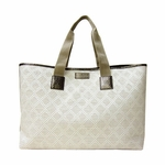 Gucci 289626 Woven Straw Diamante Metallic GG Purse Bag Tote Shopper