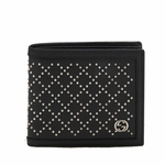 Gucci Diamante Stud Black Leather Coin Bi-fold Wallet 295607