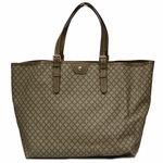 Gucci Diamante Supreme Brown Leather Large Unisex Tote Bag 295250