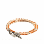 Gucci Double Wrap Beaded Bracelet 316008, Orange