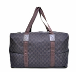 Gucci Duffel Bag Brown Jacquard 105671