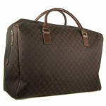 Gucci Duffel Bag Brown large Travel Carry On 196356