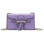 Gucci Emily Lavender Horsebit Chain Shoulder Bag