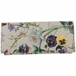 Gucci Flora White Leather and Flora Print Coin Pocket Flap Wallet 274419