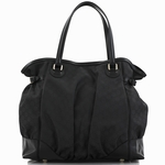 Gucci Black Canvas Large Full Moon Shoulder Handbag 257290